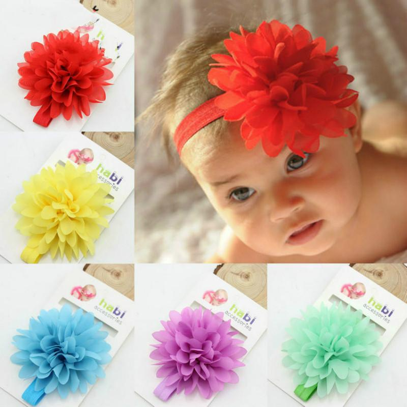 Hot Sale Baby Girl Elastic Hairband Children Hair Wear For Kids Head Band Flower Headband Baby Hair Accessories