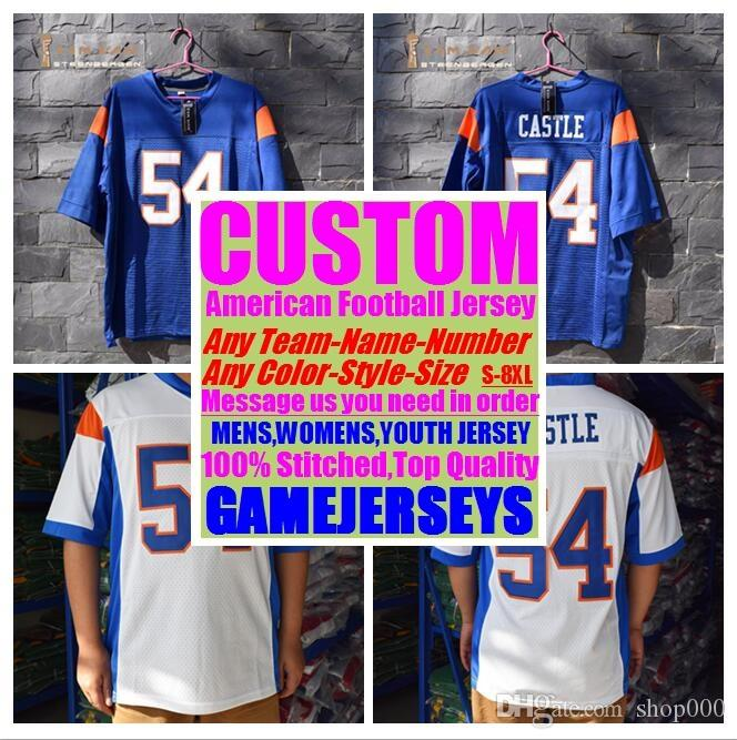 sneakers for cheap 02c29 5eb4a Custom american football jerseys college cheap authentic game elite sports  jersey stitched mens womens youth kids 4xl 5xl 6xl 7xl 8xl shirt