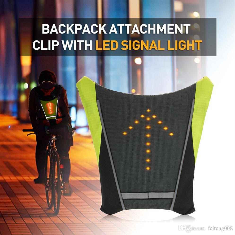 Cycling Lixada Bike Bag Usb Reflective Vest Backpack With Led Turn Signal Light Remote Control Sport Safety Bag Gear For Cycling Buy One Give One
