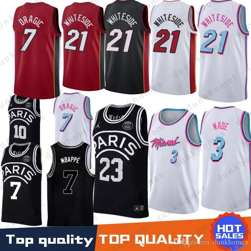 c30fabc8d173 Miami 3 Dwyane Dragic 7 Goran Wade Heat Jerseys 21 Hassan The City ...