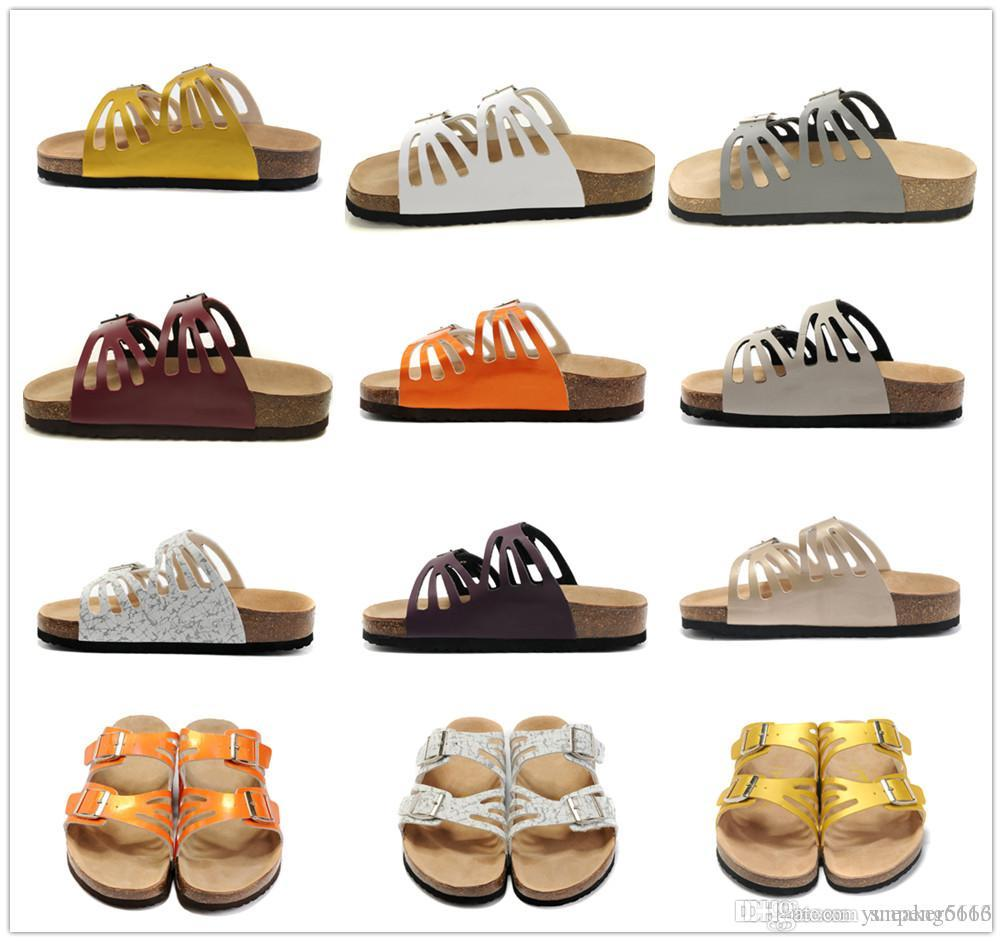 Arizona hot summer men s sandals flat shoes cork slippers single sex casual shoes, various colors, Beach shoes34-47