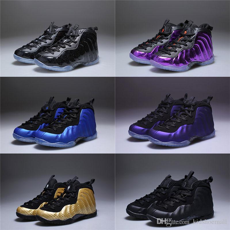 f34945f7fbb Compre Con Caja Unisex Infantil Penny Hardaway Espuma Uno Zapatos De  Baloncesto Niños Púrpura Deportes Chicas Zapatillas De Deporte Para Niños  Niños ...