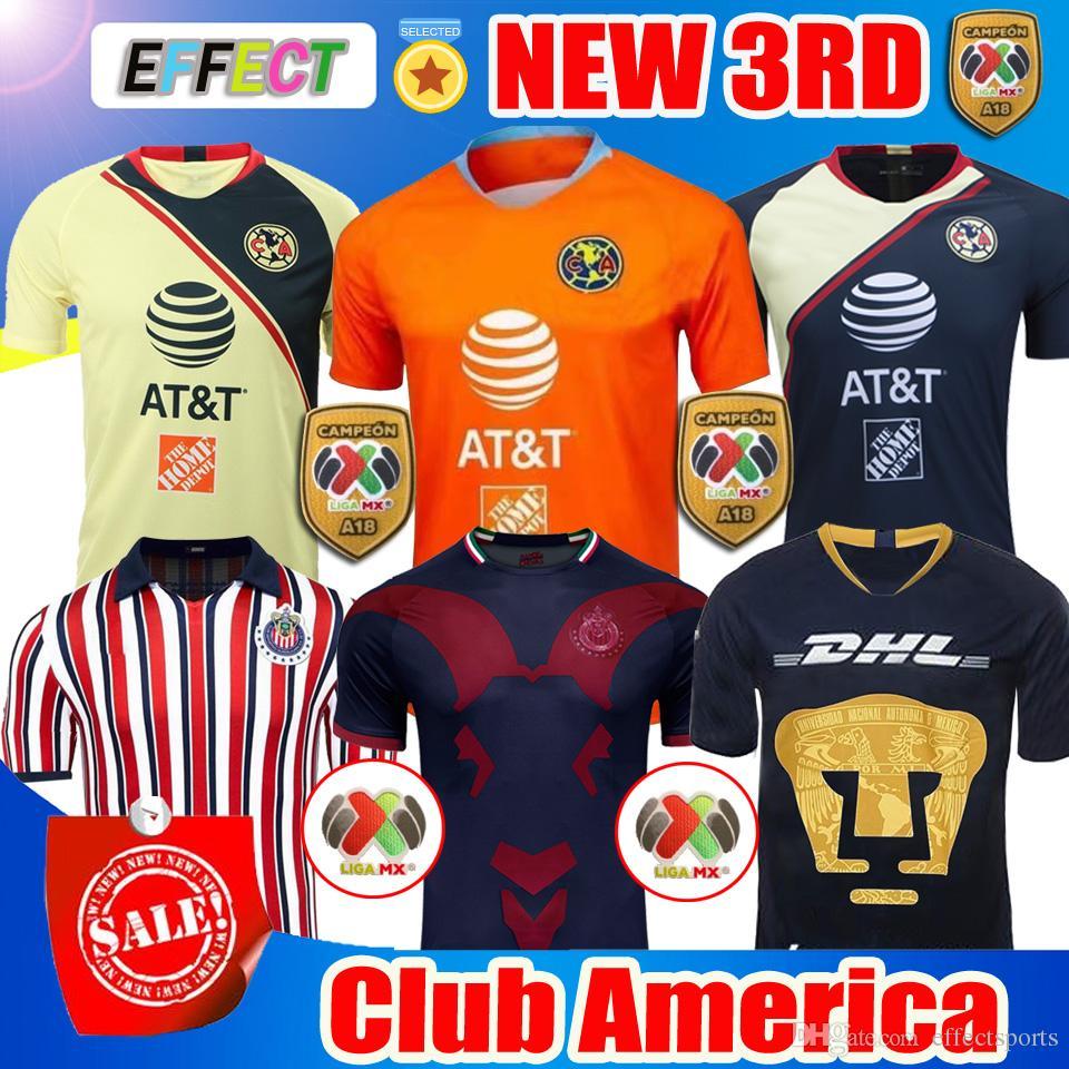 6a759c256cd 2019 New 2018 Chivas De Guadalajara Third Jerseys World Cup Soccer Jerseys  Club America Tigres UNAM 2019 MEXICO Club A.PULIDO Football Shirts From ...