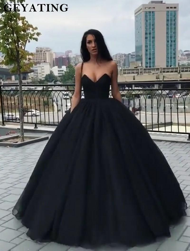 fd16a9aab0 Black Princess Ball Gown Prom Dresses 2K19 Sweetheart Corset Back Long  Party Gowns Vestides De Festa Off The Shoulder Prom Dress Long Dresses For  Prom Long ...