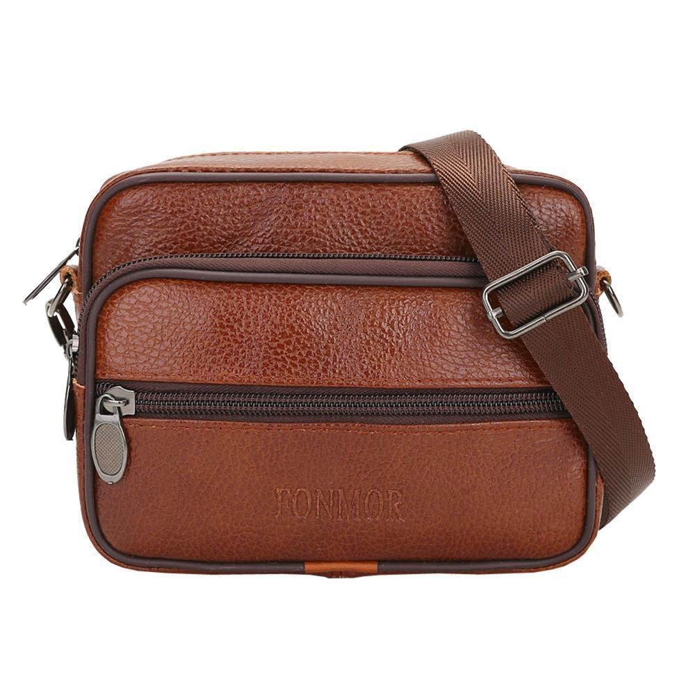 0311748b7 Vintage Men Pure Color Leather Commerce Crossbody Bags Shoulder Bag Waist  Bag Mini Crossbody Bolsos Mujer De Marca Famosa #75 Fiorelli Handbags  Patricia ...