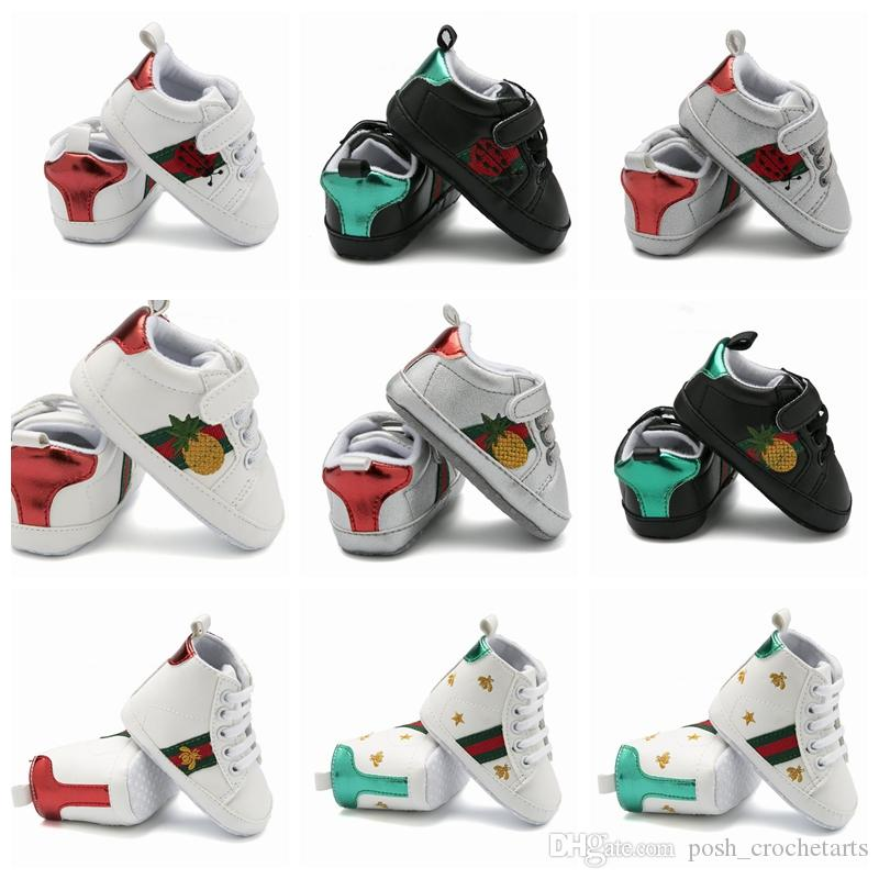 2019 Fashion Baby First Walkers Designer Brand Baby Shoes Unisex