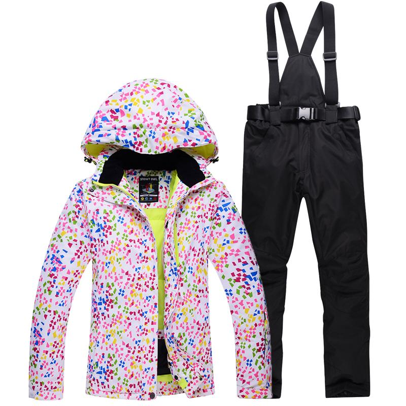 edec6f11ab 2019 Woman Skiing Suit Sets Snowboarding Clothes Waterproof Windproof Winter  Snow Costumes Jackets+ Pants Ski Suit Womens Ski Suits From Dragonfruit