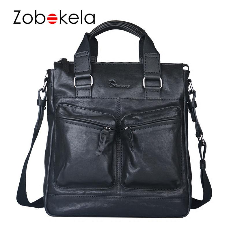 ZOBOKELA Small Messenger Bags Men Shoulder Bag Genuine Leather Men ... 73d647d55d03e