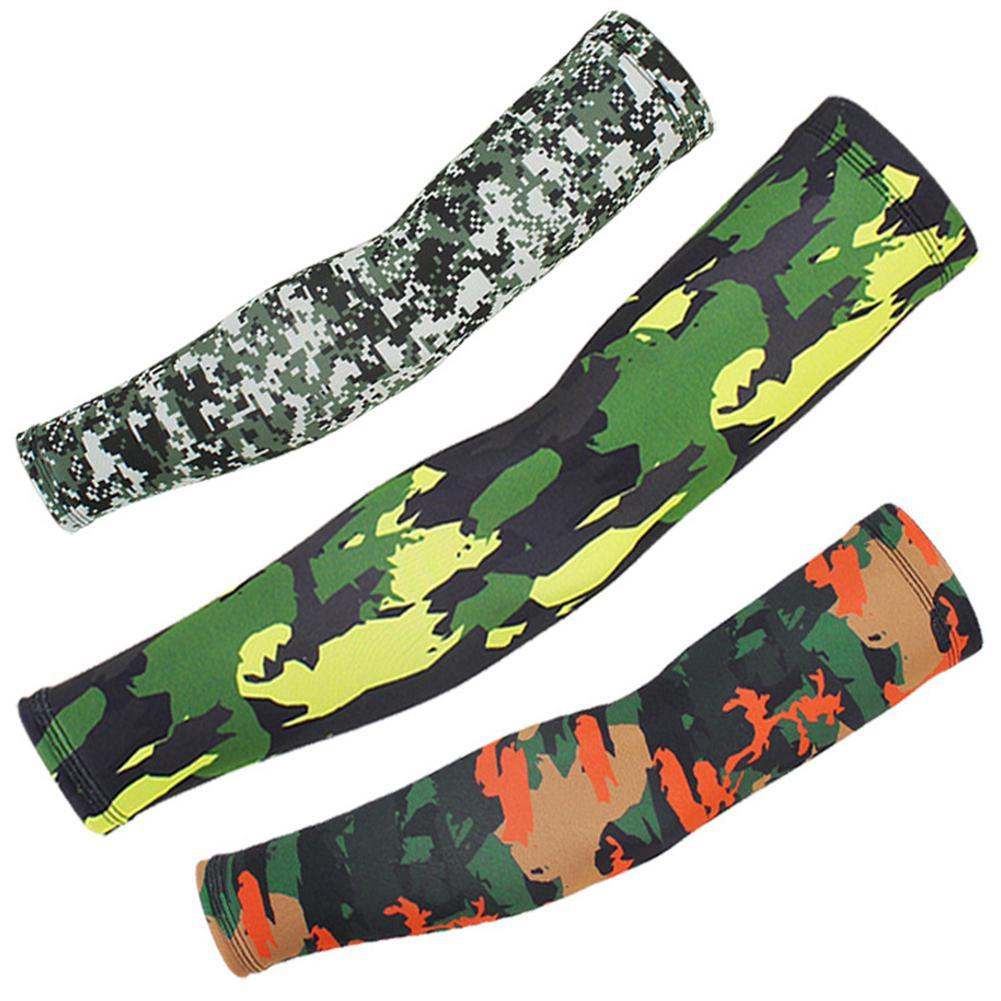 Outdoor Cycling Sunscreen Arm Sleeve Camouflage Cooling Sunshade Elastic Hand Elbow Cover