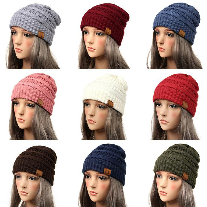 76f2ca1134395e 2019 Newest Drop Shipping Beanie Women Cap Hat Skully Trendy Warm Chunky  Soft Stretch Cable Knit Slouchy Beanie Winter Hats Ski Cap Beanie Hats For  Women ...