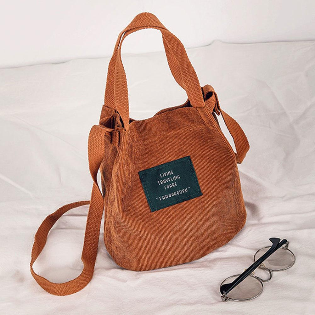 e68189c01866 Designer Mobile Phone Canvas Single Shoulder Bag Makeup Organizer Corduroy  Vintage Tote Handbag Simple Girl Student Crossbody Bag Handbags Wholesale  Purses ...