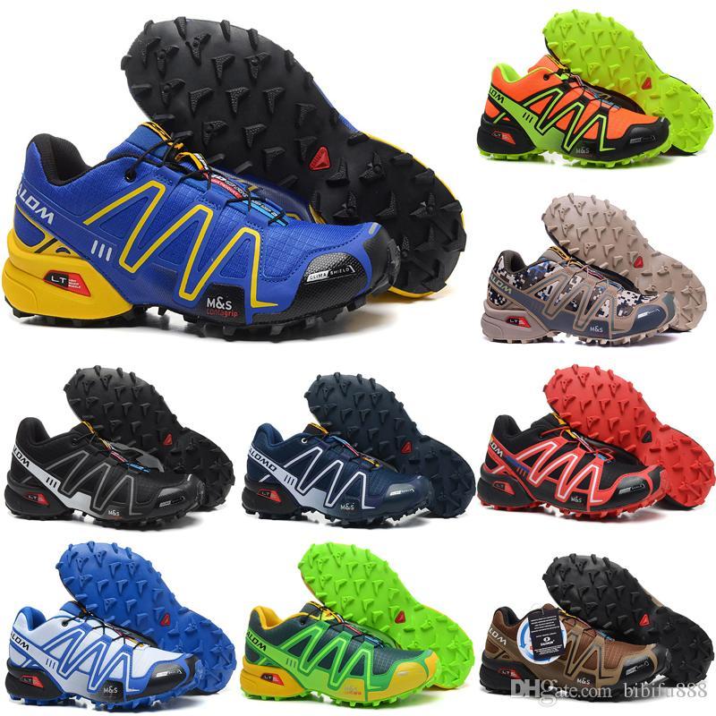 503328ee6e84 Compre 2018 Salomon Speed cross IV Speedcross 3 4s Trail Runner Dark Red  Men Zapatos Para Correr Zapatos Deportivos Zapatillas De Deporte De Moda  Zapatos ...