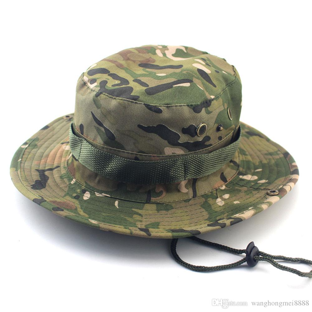06335d0dc Sun Hat Panama Bucket Flap Hat Breathable Boonie Multicam Nepalese Boonie  Camouflage Hats Outdoor Fishing Wide Brim hats