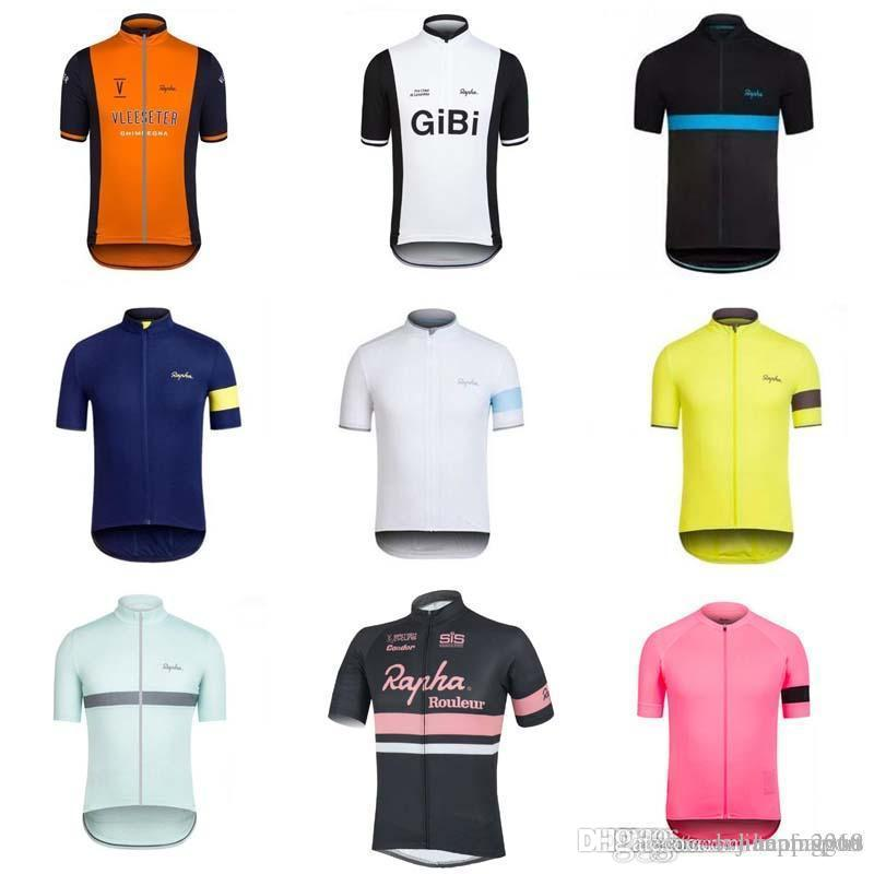 RAPHA Team Cycling Jersey 2018 Cycling Jersey For Men Bike Clothes For  Summer Top Quality Cycling Clothing 840303 Cycling Socks Retro T Shirts  From ... ff90aec22