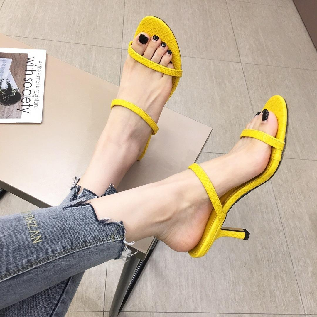 Beast2019 All-match Fresh Wind Paragraph With One Word Bring Cool Woman Slipper