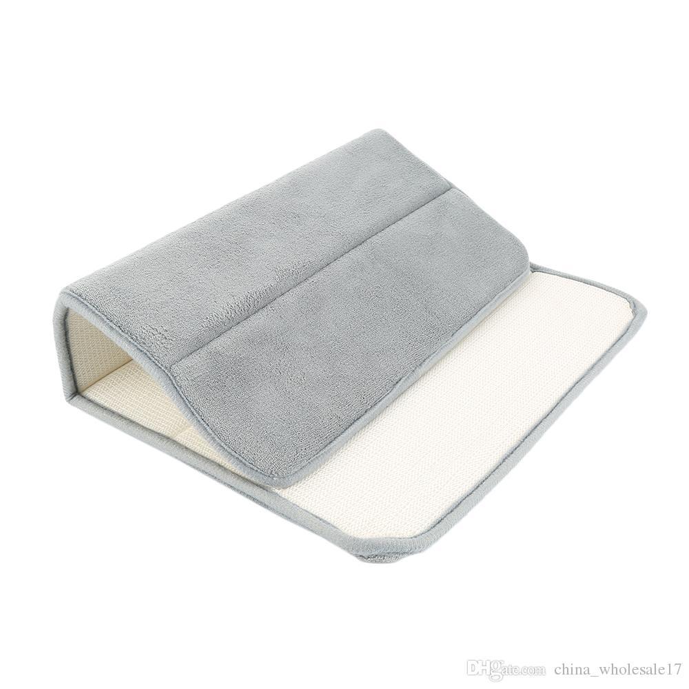 Dropship 40*60cm Bath Mat Bathroom Carpet Rug coral fleece Memory Foam  Bathroom Mat kitchen Door Floor