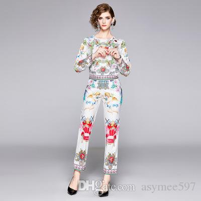 Fashion & Leisure Women's Two Piece Pants,Beauty Printing Lady's 2 Piece Sets,Nice T-Shirt and Long Pants Wear Set
