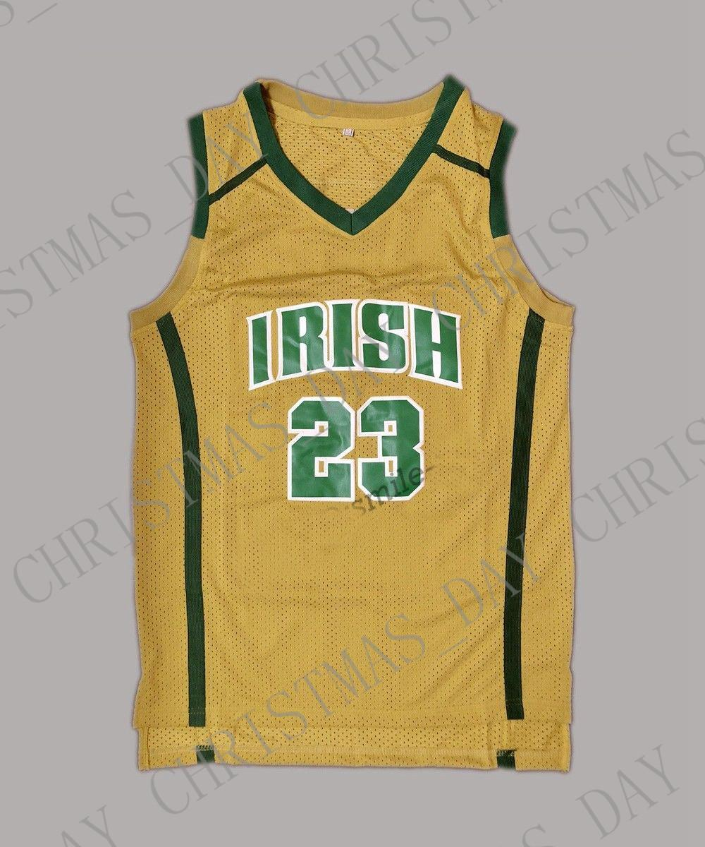 new arrival 7fb7c 26c37 Cheap custom Lebron James #23 Irish High School Stitched Basketball Jersey  Stitched Customize any name number MEN WOMEN YOUTH JERSEY XS-5XL