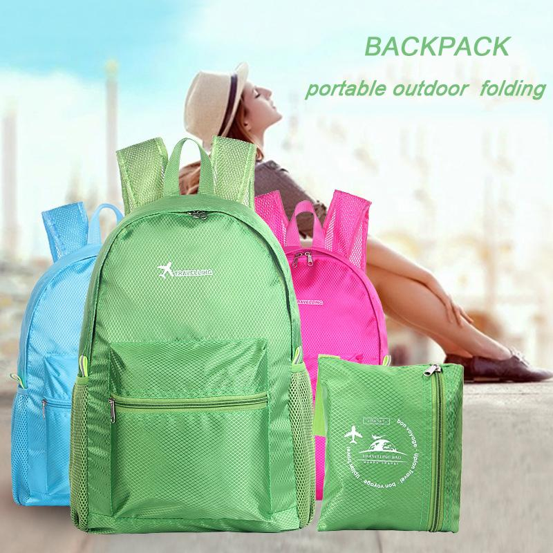 6e2d32ed36d7 2019 FashionFashion Backpack Women Leisure Travel Women Backpacks For Girls  Backpack Female Casual Nylon Waterproof Backpacks Can Folded 18 Army  Backpack ...