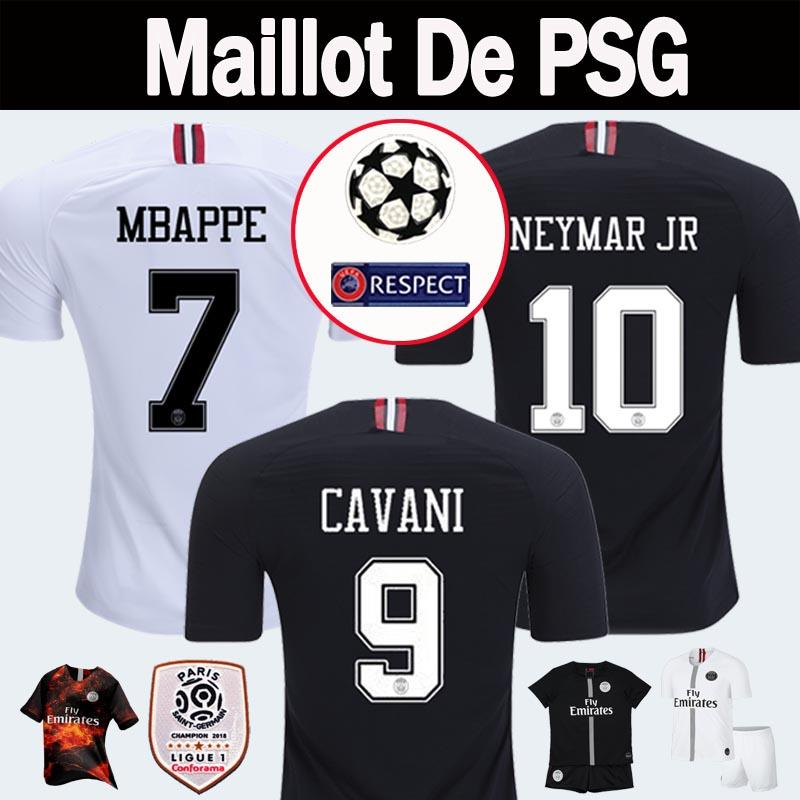 924a464e9 18 19 PSG Third Maillot MBAPPE Jerseys 4th CAVANI Thailand 18 19 ...