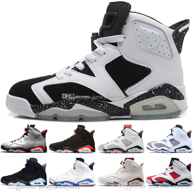ee605ee3 In Stock 2019 Infrared Bred 6 6s Mens Basketball Shoes 3M Reflective Bugs  Bunny Tinker Hatfield UNC Oreo Men Sport Sneaker Designer Trainers Sports  Shoes ...