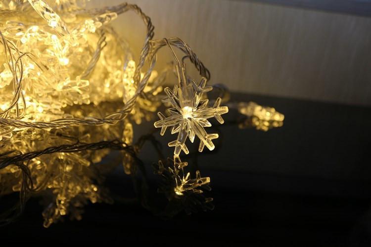 ندفة الثلج أضواء LED شريط غرفة الزفاف في الهواء الطلق زينة عيد الميلاد ضوء LED 3 أمتار الدعائم 20 جهاز كمبيوتر شخصى أضواء دافئة حزب T2I5644