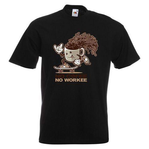 71c551659 No Coffee, No Workee Mens PRINTED T SHIRT Cartoon Funny Cup Mug Skateboard  Tees Custom Jersey T Shirt Link Shirts T Shirt T From Docup, $16.24|  DHgate.Com