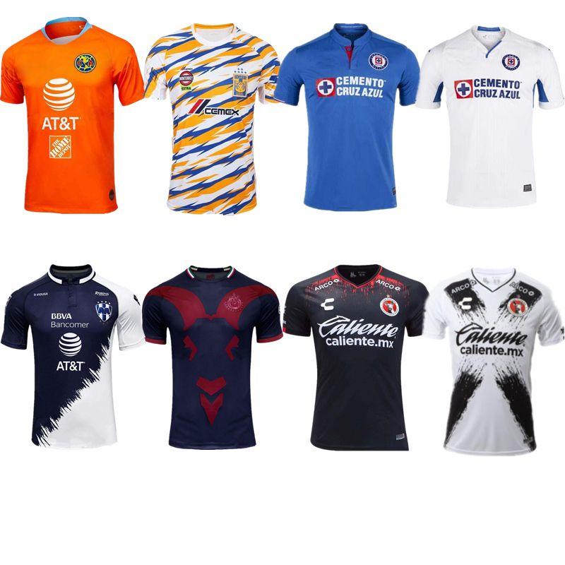 27aa8e66036 2019 2019 2020 LIGA MX Club America Soccer Jersey 19/20 Mexico Club Futbol  Chivas UNAM Pachuca Necaxa Laguna Tigres UANL Monterey Tijuana Shirt From  ...