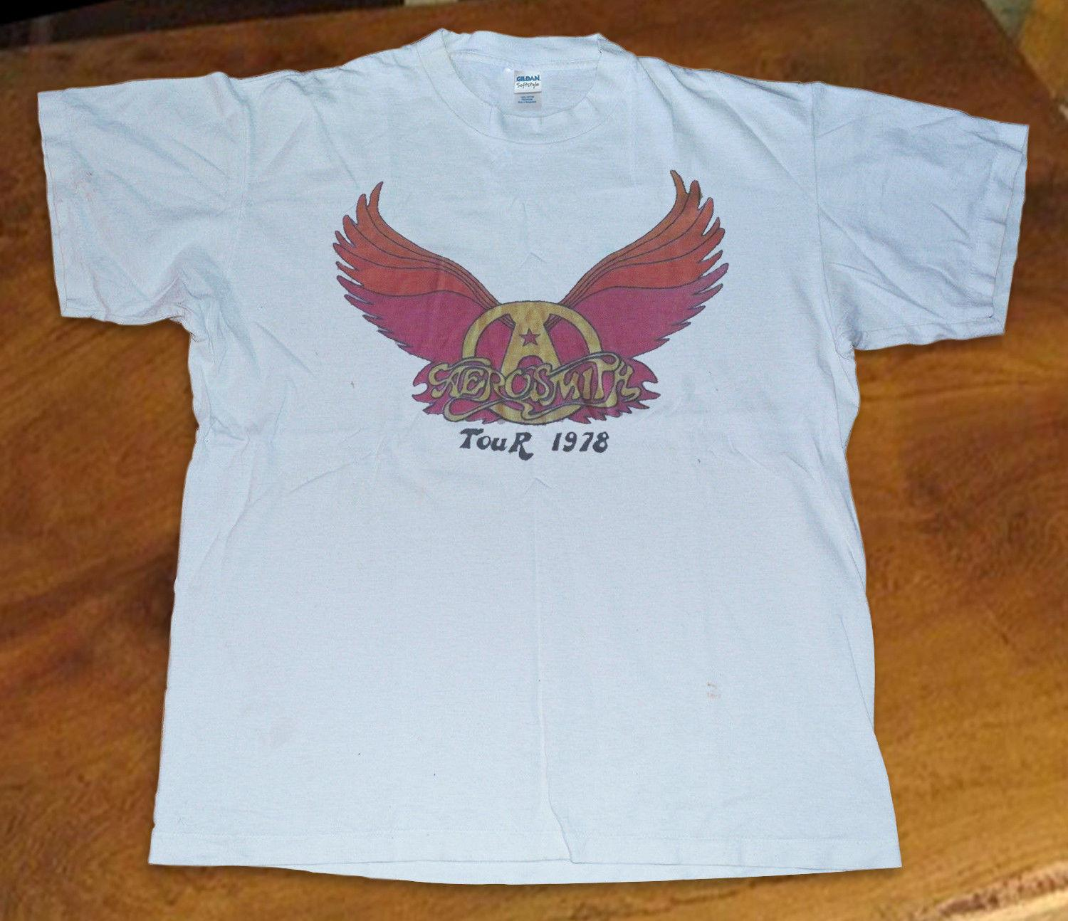 f009b86cc Vintage T Shirt Aerosmith Vintage 1978 Concert Tour Reprint Size S 3XL  Ridiculous T Shirts One Day T Shirts From Goodluck064, $11.63| DHgate.Com