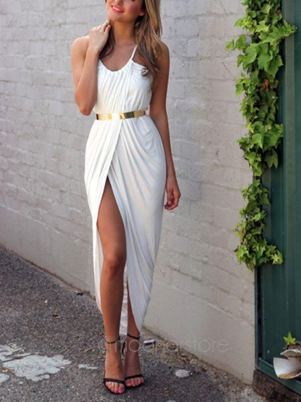 78129a7ad788 New Summer Women Neon Asymmetry Slit Beach Dress Ladies Party Evening Maxi  Dresses Sexy Club Vest Dress Black