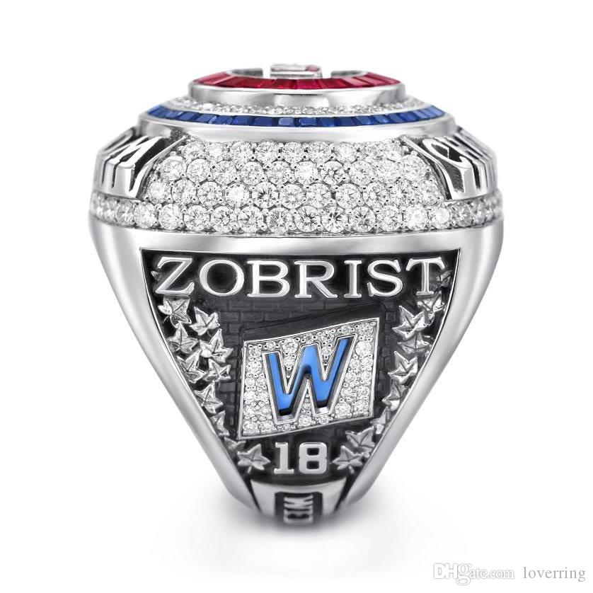 ZOBRIST Chicago 2016 Cubs World Baseball Championship Anello Set in legno Display Box Fan regalo 2019 all'ingrosso