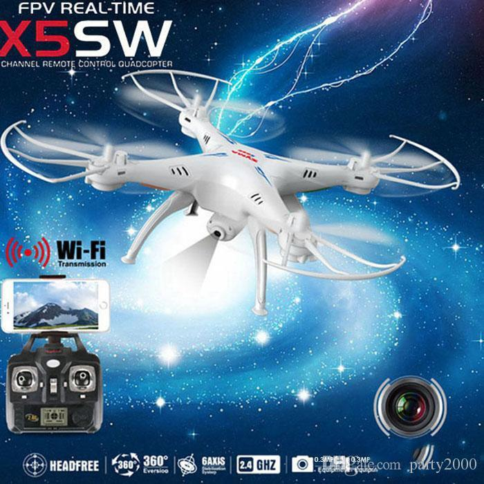 2015 Drones SYMA X5SW-1 WIFI RC Drone FPV Helicopter Quadcopter with HD Camera 2.4G 6-Axis Real Time RC Helicopter Toy Free Shipping