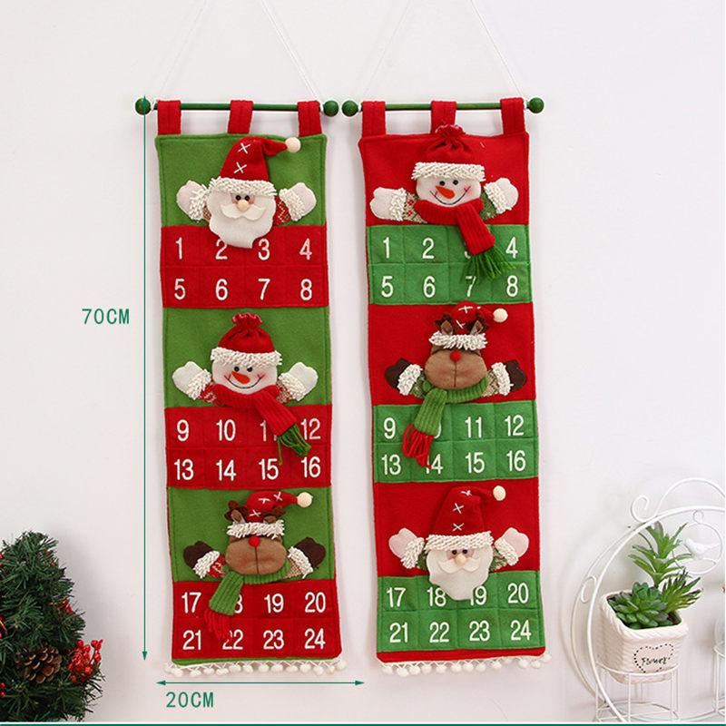 Christmas Items 2019 Christmas Advent Calendar 2019 New Year Decor Door Wall Hanging