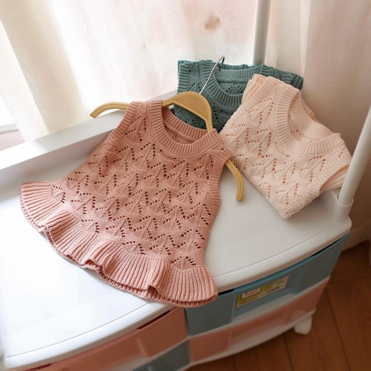 e5c77daa721e Spring Autumn Hot Baby Girls Knitting Sweater Vest Kids Children ...
