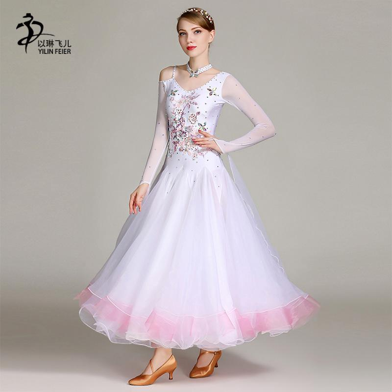 785bc485d Sequins Ballroom Dance Dresses Standard Balloom Dancing Clothes ...