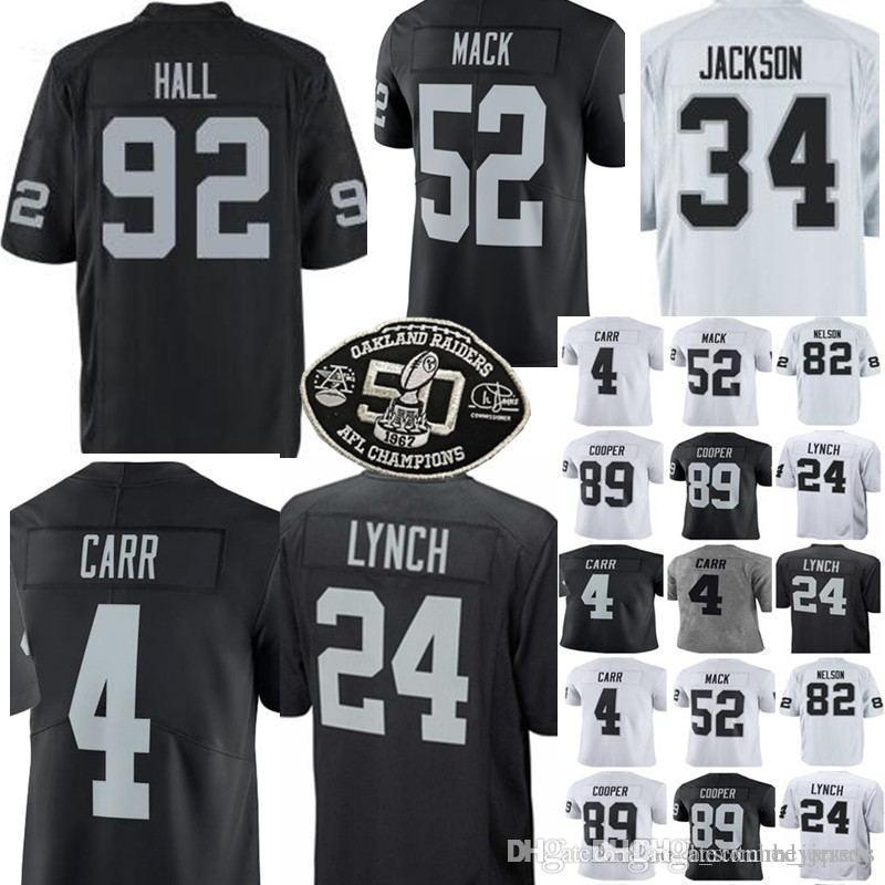 7ca99379 Oakland 24 Marshawn Lynch 4 Derek Carr jersey Raider Jerseys Men 52 Khalil  Mack 89 Amari Cooper stitched Jerseys