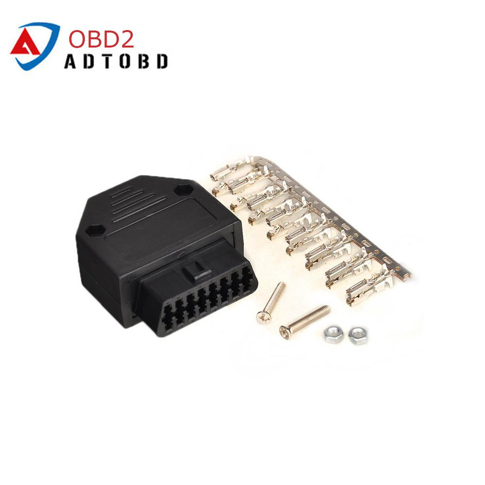 Helpful New Obd2 16pin Male Female Connector Plug Adapter Obd Obdii Eobd J1962 Obd2 16pin Wiring Adapter 16pin Shell Wholesale Automobiles & Motorcycles