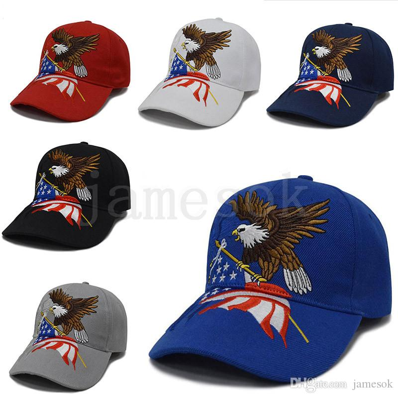 Fashion USA Embroidery Baseball Cap eagle america flag letter Outdoor Snapback Hats Unisex Travel Causal Sport Caps Snapbacks dc715