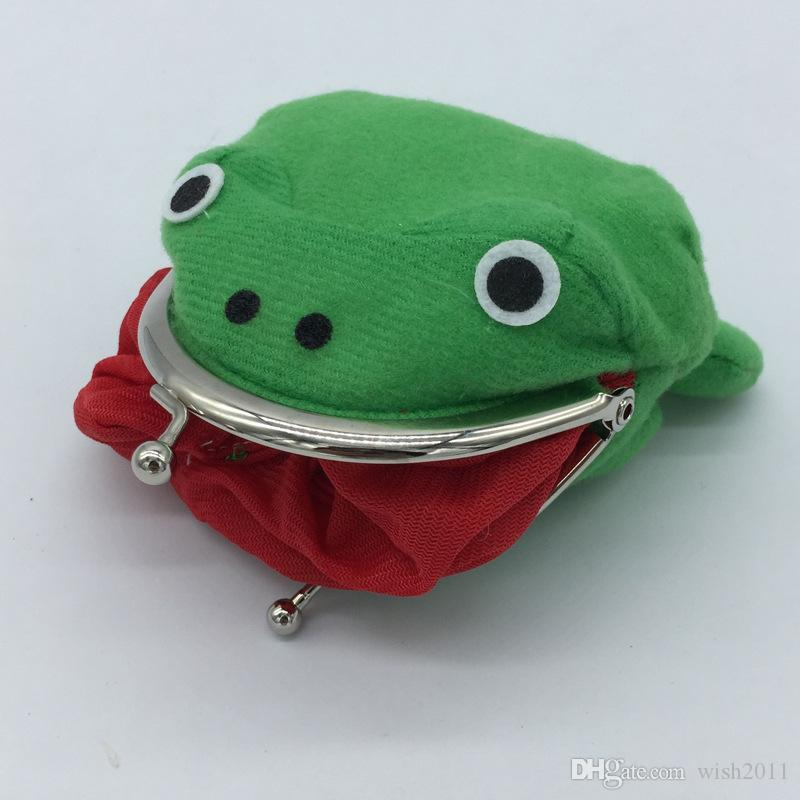 Coin Purse, Cute Green Frog Coin Bag Purse Wallet Role Playing Anime Plush Toys Funny Purses School Prize Toy Gift Green