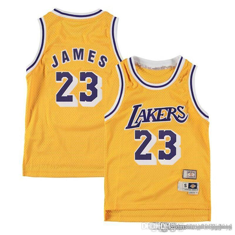 311f09fdfda 2019 Mesh Yellow Gold 2018 New Los Angeles Jersey Laker LeBron 23 James  Lakers Basketball Jerseys The City Whish Embroidery Logos 100% Stitched  From ...