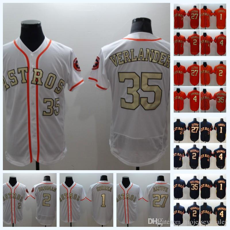 separation shoes ddea5 ca6a9 23 Michael Brantley 2018 Champions Gold Program Jersey 1 Carlos Correa 4  George Springer 27 Jose Altuve 35 Justin Verlander 2 Alex Bregman