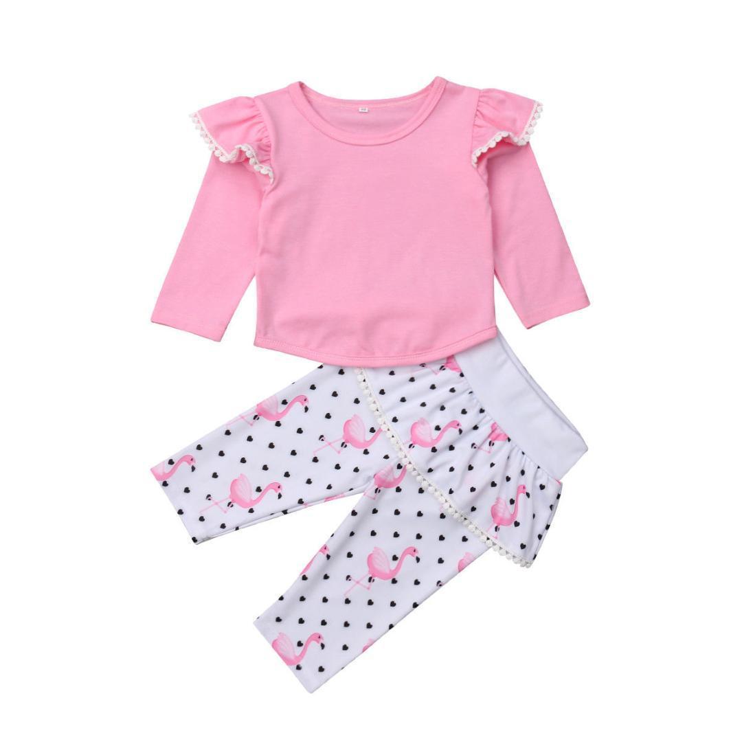 4b9fde06f 2019 Newborn Toddler Kids Baby Girl Long Sleeve Cotton T Shirt Pink ...