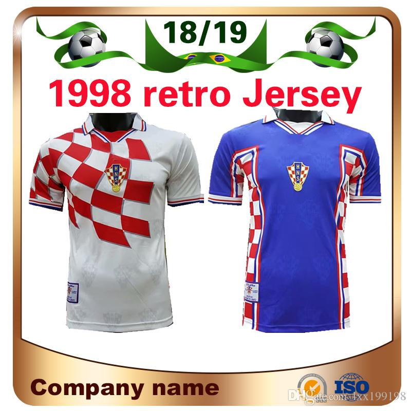 657631ce064 2019 1998 Retro Edition Croatia Soccer Jersey 1998 World Cup Soccer Shirt  Croatia Soccer Shirt Short Sleeved Football Uniforms Sale From Lxx199198,  ...