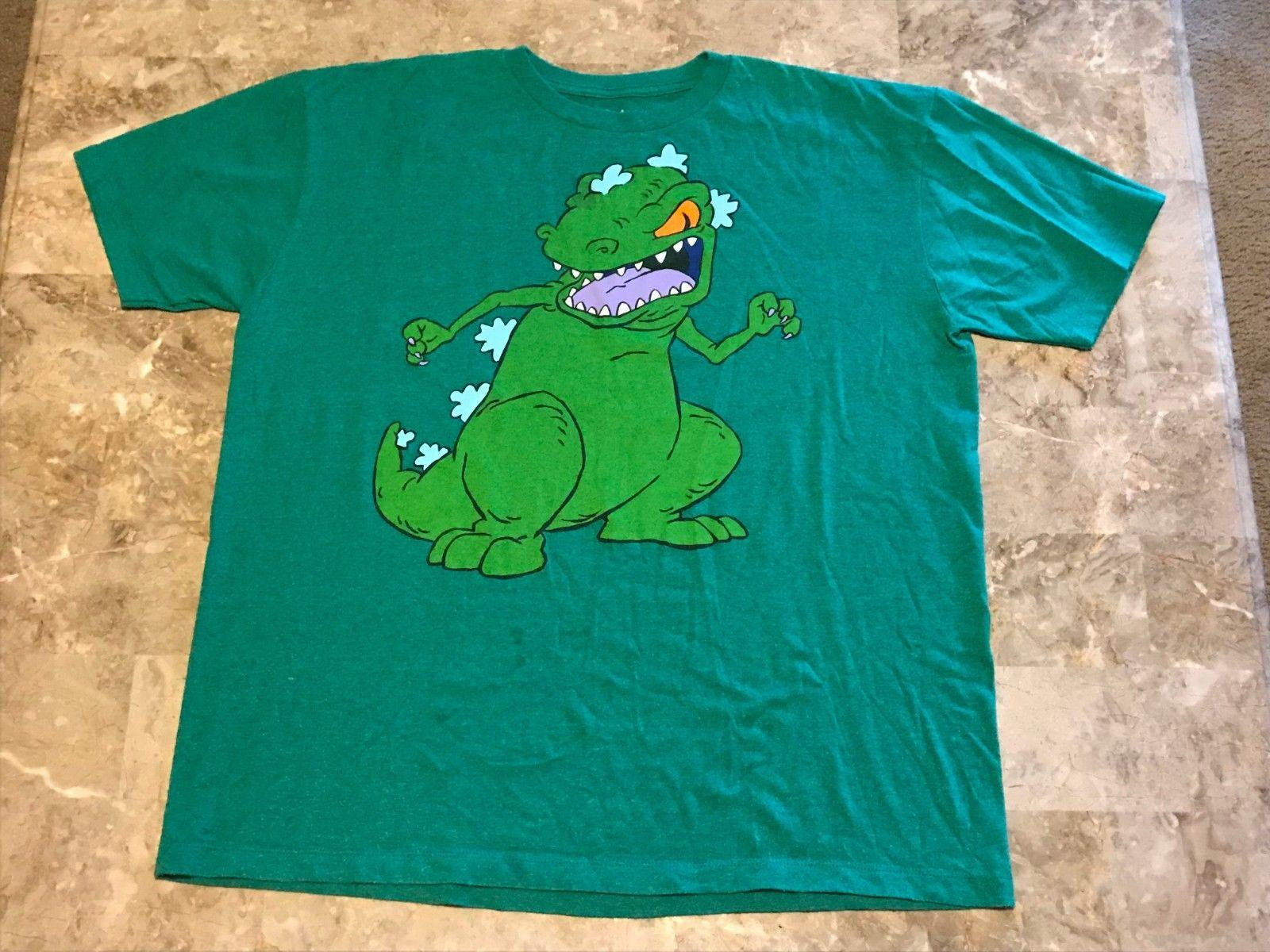 965656e9a95 Nickelodeon Rugrats Reptar Green Cartoon TV Show Graphic T Shirt Adult Size  XLFunny Unisex Casual Tshirts Printed Crazy Tshirts From Tshirtkidd