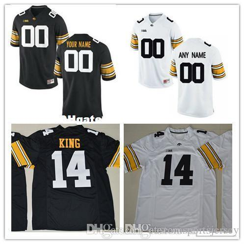 0234b34b7 Custom Iowa Hawkeyes College Football Jersey Mens Limited White ...
