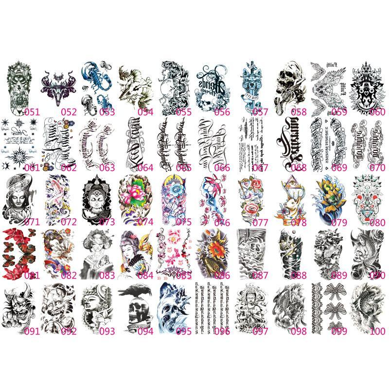 100X Tatuaggi Temporanei Falso Adesivi Tatuaggi Adesivi Trasferimento del Braccio Inferiore Nero Totem Uomini Sexy Caldi Spray Disegni Tatto impermeabili