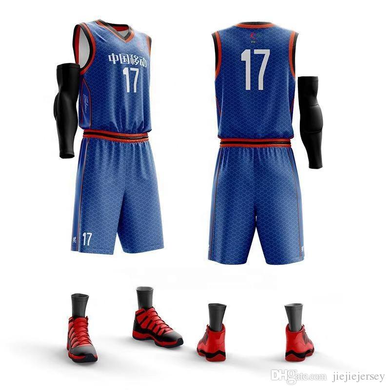 1d49eae27 Customized New Kids Adult Basketball Training Jersey Set Blank Men ...
