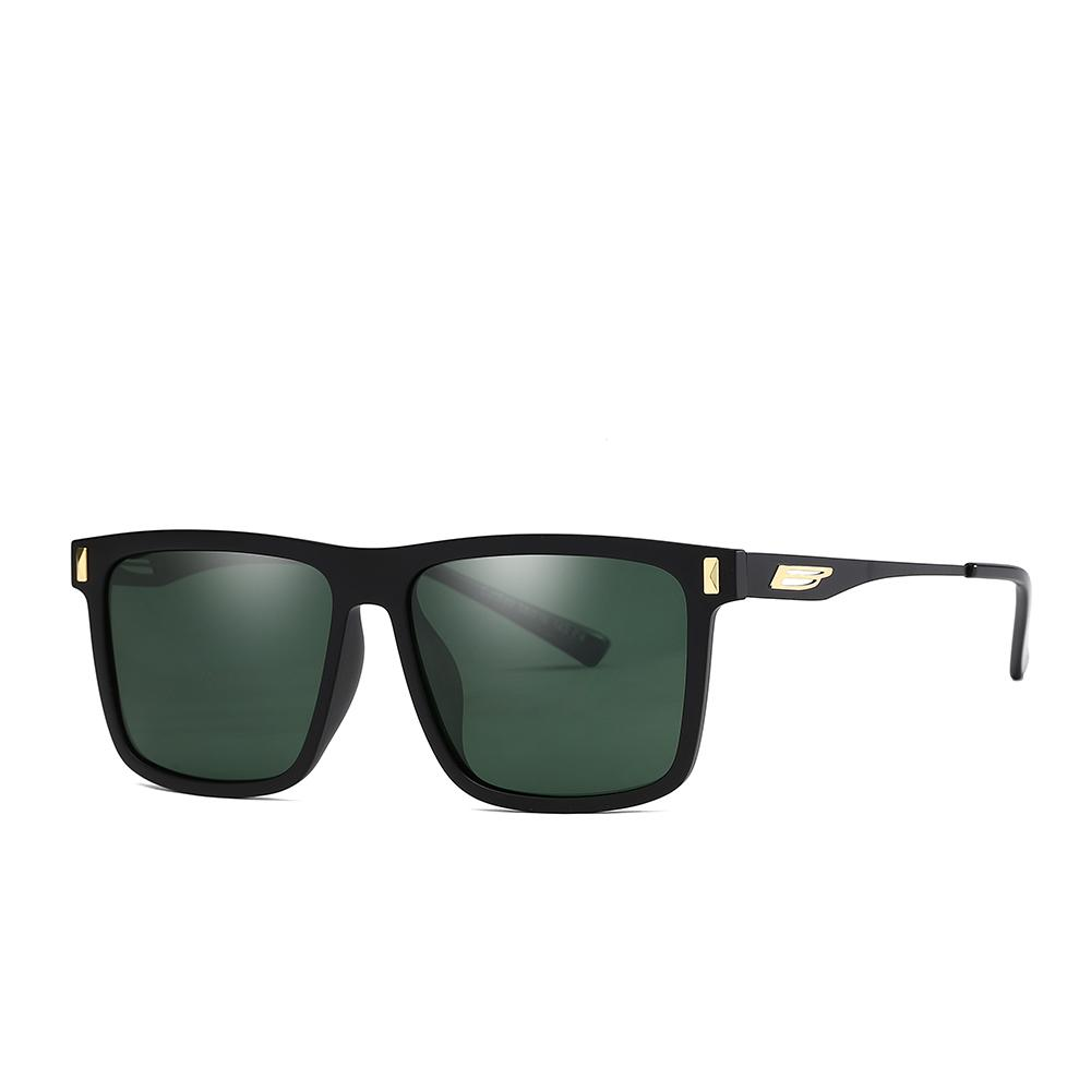662743b42 Men Vintage Rectangle TR90 Polarized Driving Sun Glasses With Black ...