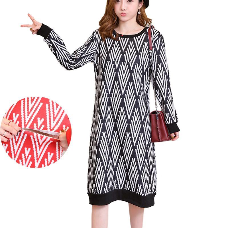 6c39837e2 Compre La Maternidad De Enfermería Vestido De Punto De Lactancia Vestidos De  Suéter De Invierno Largo Jerseys Para Mujeres Embarazadas Ropa De Embarazo  A ...