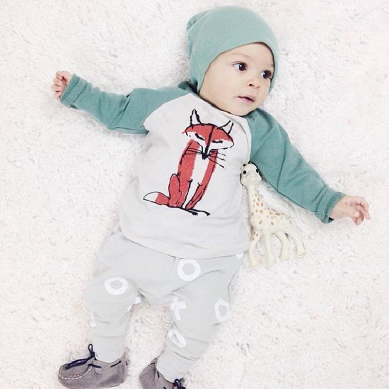 e5961e732 2019 Newborn Clothing Set Baby Boys Girls Fox Top+Pants+Hat Set ...